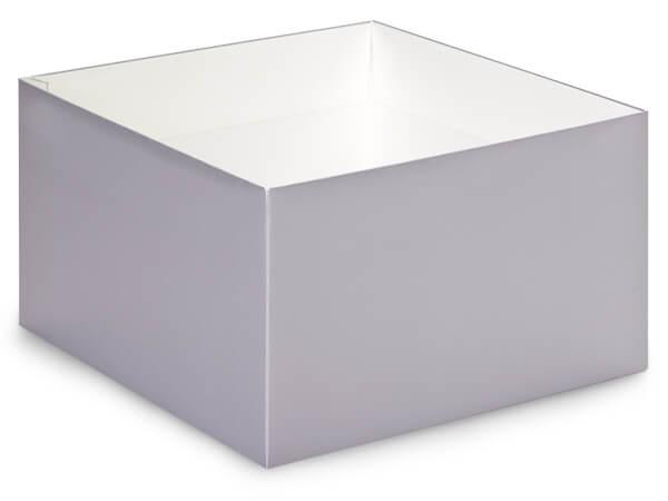 """Metallic Silver Box Base 10x10x5.5"""", 10 Pack"""