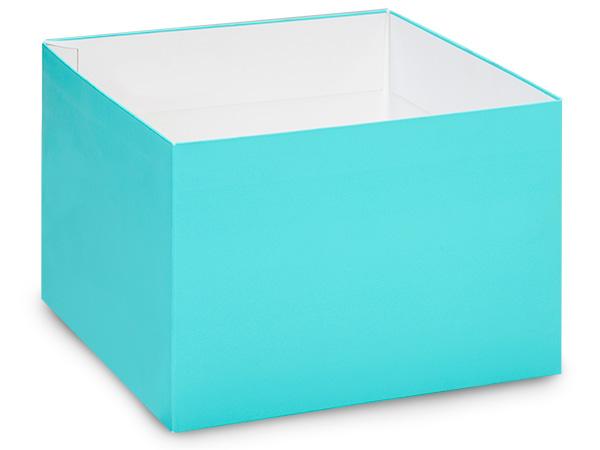 "Matte Turquoise Box Base 10x10x5.5"",25 Pack"