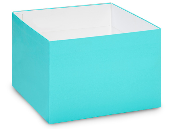 "Matte Turquoise Box Base 10x10x5.5"", 10 Pack"