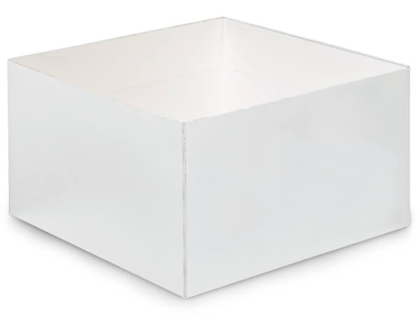 "Matte White Box Bases, 10x10x5.5"", 5 Pack"