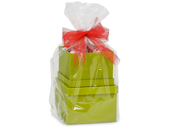 "Clear Poly Gift Basket Bags, Medium 18.5x5x22.5"", 25 Pack"
