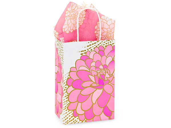 Rose Gilded Blooms Bags 250 Pk 5-1/4x3-1/2x8-1/4""