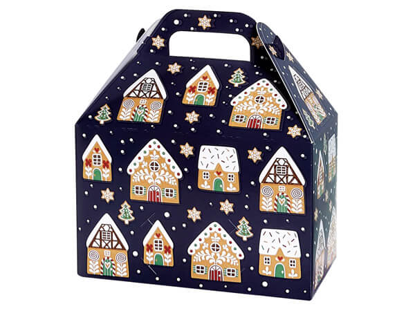 """Gingerbread Cookies Gable Box, 8.5x5x5.5"""", 6 Pack"""