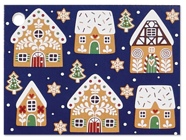 """Gingerbread Cookies Theme Cards 3.75x2.75"""", 6 Pack"""