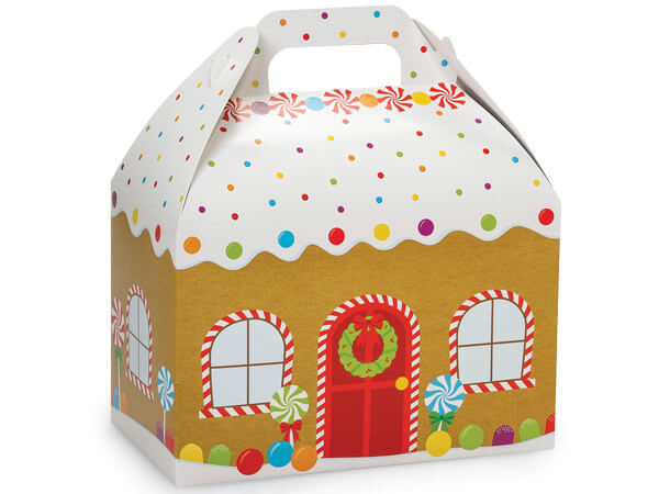 """Gingerbread House Gable Boxes 8-1/2 x 4-3/4 x 5-1/2"""""""