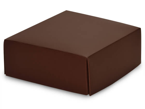 "Matte Chocolate Box Lids, 4x4x1.5"", 25 Pack"