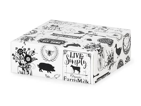 "*Farmhouse Favorites Box Lids, 4x4x1.5"", 10 Pack"