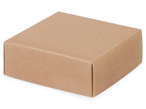 """Kraft Box Lids, 4x4x1.5"""", 5 Pack"""