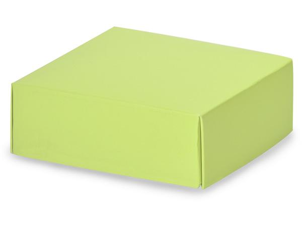 """Matte Pistachio Box Lids, 4x4x1.5"""""""