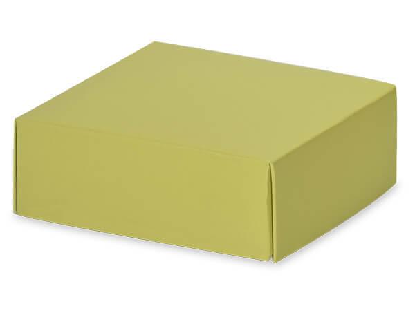"Matte Sage Box Lids, 4x4x1.5"", 10 Pack"