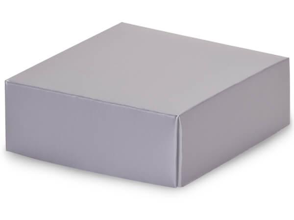 """Metallic Silver Box Lids, 4x4x1.5"""", 10 Pack"""