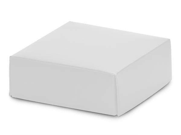 "Matte White Box Lids, 4x4x1.5"", 10 Pack"