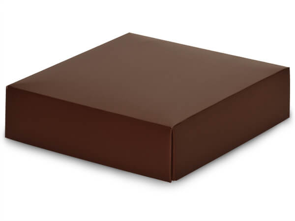 Matte Chocolate Box Lids, 6x6x1.5""