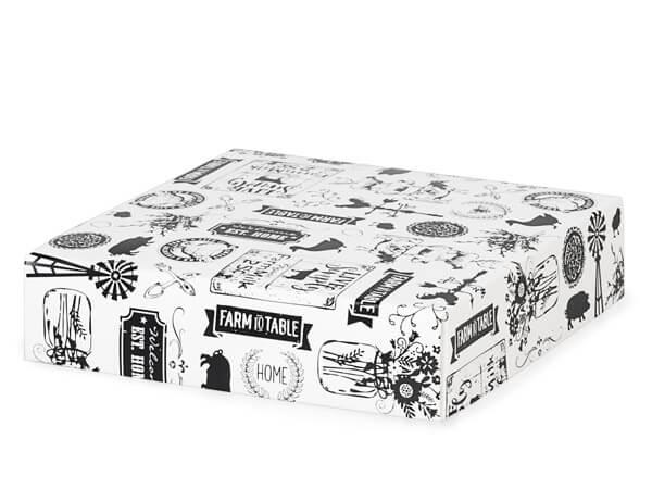 "Farmhouse Favorites Box Lids, 6x6x1.5"", 25 Pack"