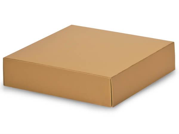 "Metallic Gold Box Lids, 6x6x1.5"", 10 Pack"