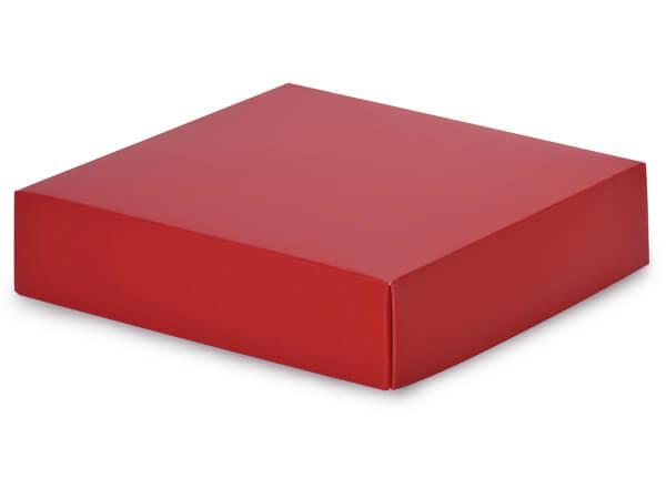 "Matte Red Box Lids, 6x6x1.5"",25 Pack"