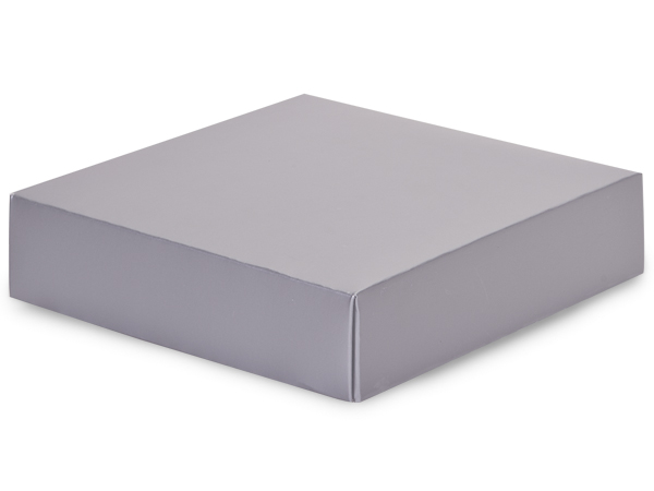 Metallic Silver Box Lids, 6x6x1.5""