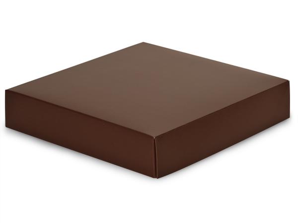 """Matte Chocolate Box Lids, 8x8x1.5"""""""