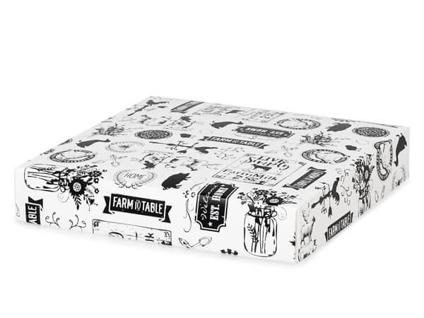 "*Farmhouse Favorites Box Lid, 8x8x1.5"", 25 Pack"
