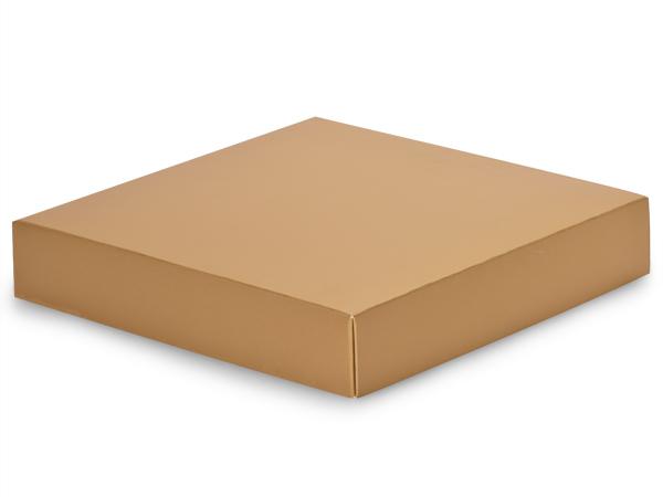 """Metallic Gold Box Lids, 8x8x1.5"""""""