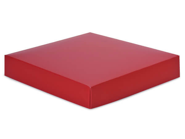 "Matte Red Box Lids, 8x8x1.5"", 10 Pack"