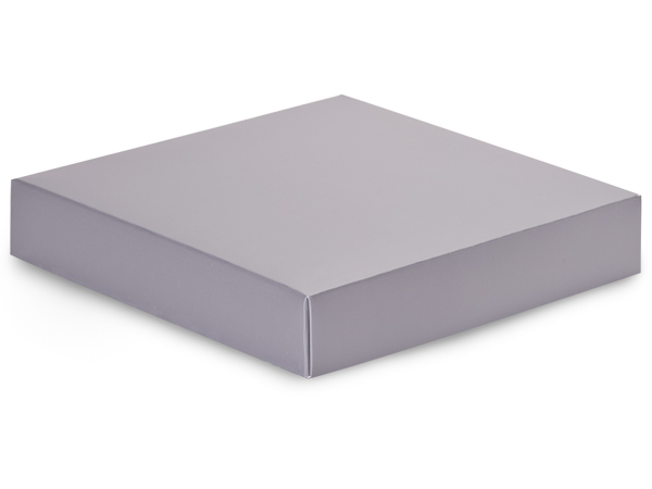 Metallic Silver Box Lids, 8x8x1.5""