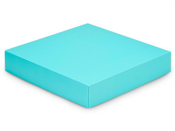 "Matte Turquoise Box Lids, 8x8x1.5"", 10 Pack"