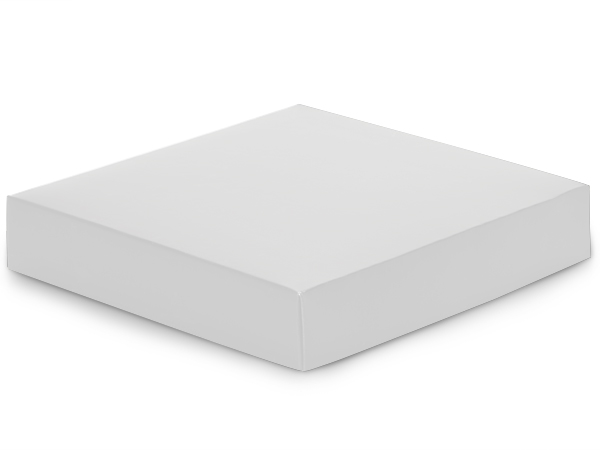 "Matte White Box Lids, 8x8x1.5"", 25 Pack"