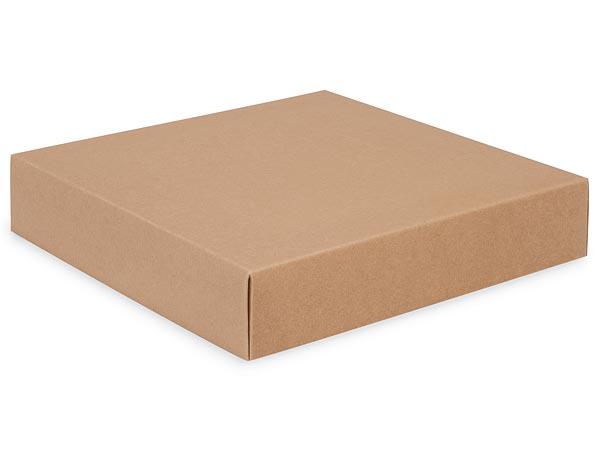 """Kraft Box Lids, 10x10x2"""",25 Pack"""