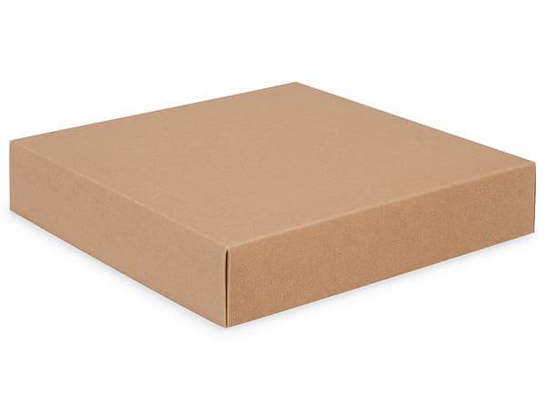 """Kraft Box Lids, 10x10x2"""", 10 Pack"""