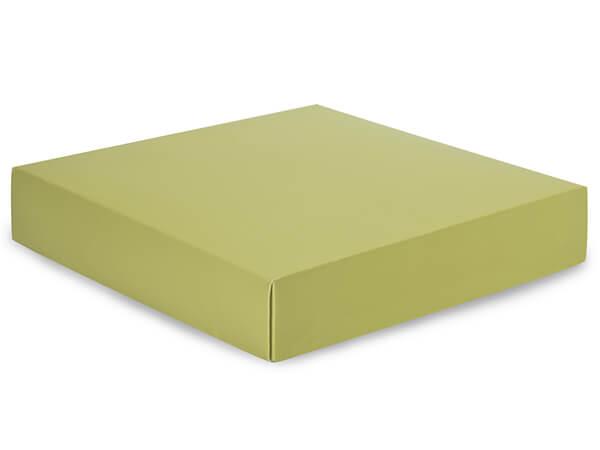 "Matte Sage Box Lids, 10x10x2"",25 Pack"