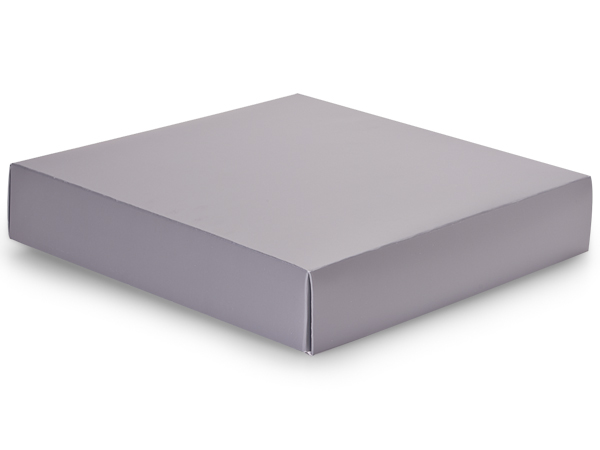 "Metallic Silver Box Lids, 10x10x2"", 10 Pack"