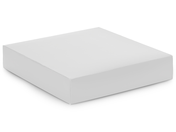 "Matte White Box Lids, 10x10x2"", 10 Pack"