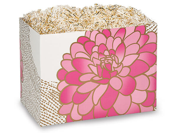 "*Gilded Blooms Basket Boxes, Large 10.25x6x7.5"", 6 Pack"