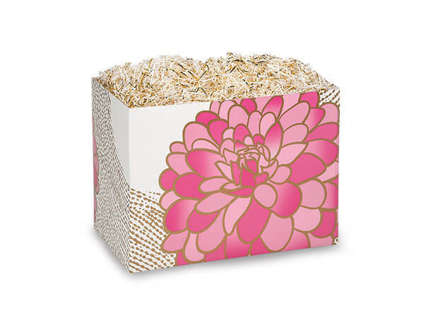 "*Gilded Blooms Basket Boxes, Small 6.75x4x5"", 6 Pack"