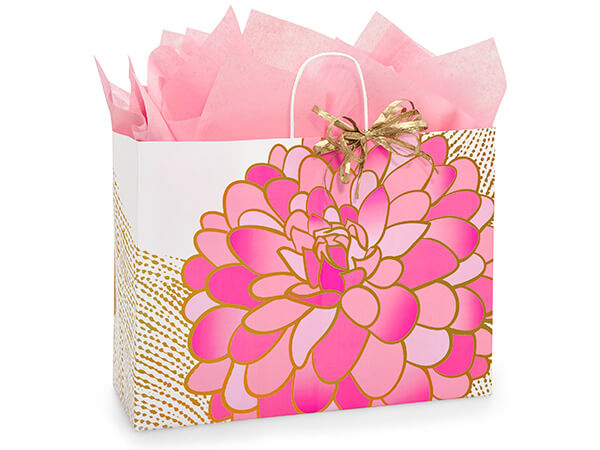 Vogue Gilded Blooms Bags 25 Pk 16x6x12-1/2""