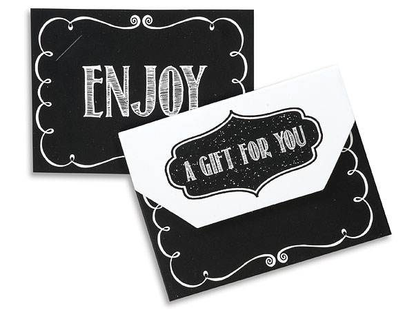 Chalkboard Gift Card Holders 4-1/2x3-1/2x3/8""