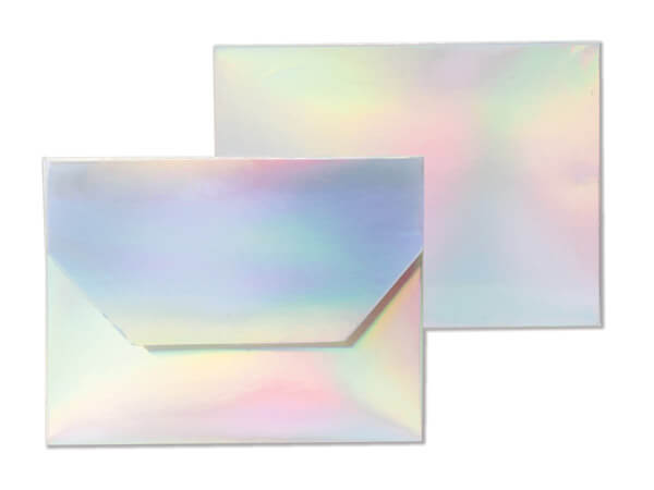 Iridescent Gift Card Holders 4-1/2x3-1/2x3/8""