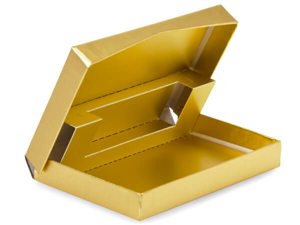 Gold Pop Up Presentation Gift Card Holder 4-5/8x3-3/8x5/8""