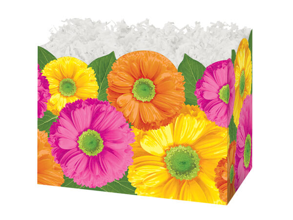 Small Gerber Daisies Basket Boxes 6-3/4x4x5""