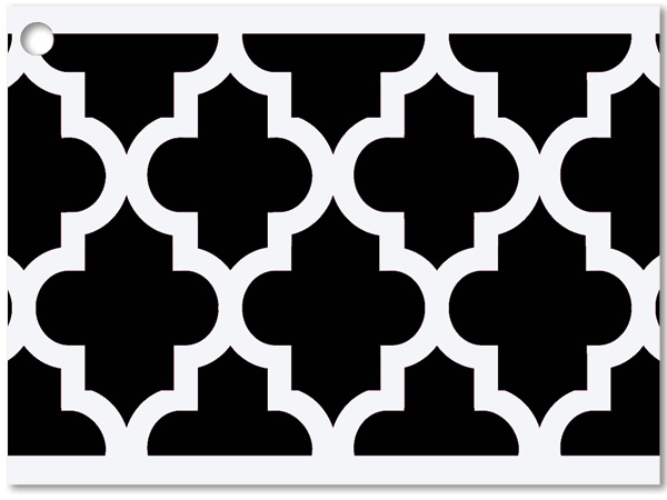 Black Geo Graphics Theme Gift Cards 3-3/4x2-3/4""