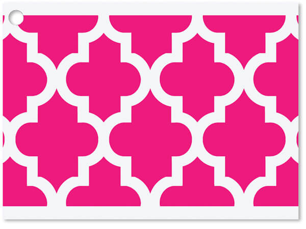 """**Hot Pink Geo Graphics Gift Cards 3-3/4x2-3/4"""""""