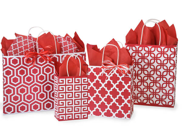 Red Geo Graphics 125 Bag Assortment