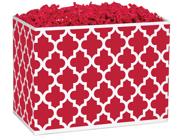 """**Large Geo Graphics Red Boxes 10-1/4"""" x 6"""" x 7-1/2"""""""