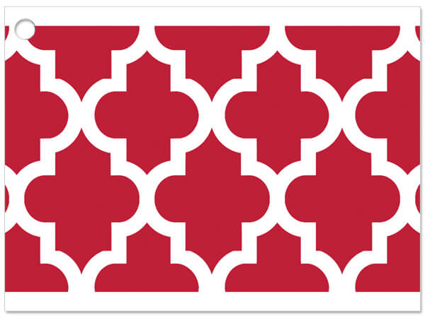 **Geo Graphics Red Gift Cards 3-3/4x2-3/4""