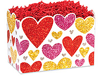 Nashville Wraps Glittering Hearts Basket Boxes