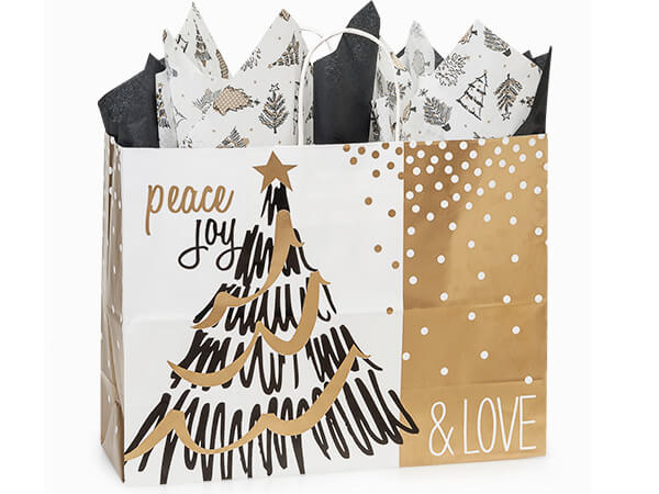Vogue Golden Holiday Trees 25-Pk 16x6x12-1/2""