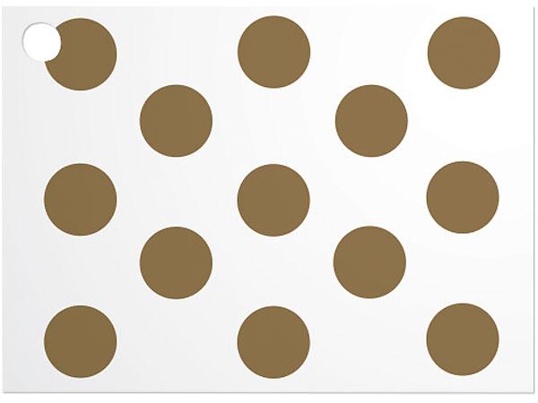 "Gold Metallic Dots Theme Card 3-3/4 x 2-3/4"""
