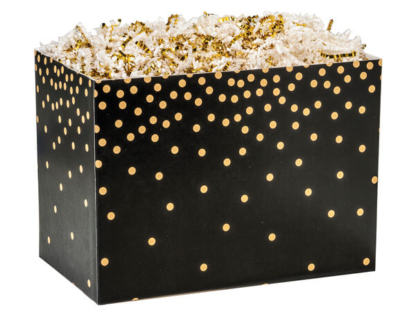 Large Golden Midnight Basket Boxes 10-1/4x6x7-1/2""