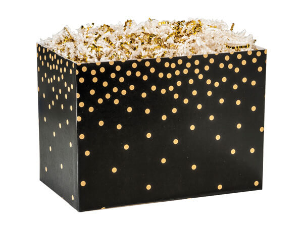 Small Golden Midnight Basket Boxes 6-3/4x4x5""
